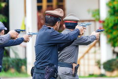 Police,Police gun,Police training weapons. Stock Photography