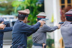 Police,Police gun,Police training weapons. Royalty Free Stock Photography