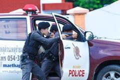 Police,Police gun,Police training weapons. Stock Photos