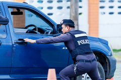 Police,Police gun,Police training weapons. Royalty Free Stock Image