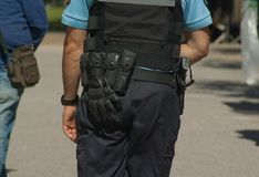 Police, Police Officer, Jeans, Official royalty free stock photo