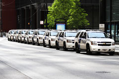 Police presence in Chicago during NATO Royalty Free Stock Photography