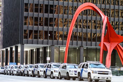 Police presence in Chicago during NATO Stock Images