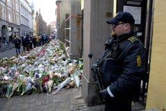 POLICE PRESENT AT JEWS SYNAGOGUE Royalty Free Stock Photo