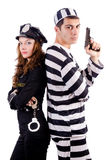 Police and prison inmate Stock Photography