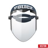 Police protect mask. Vector Illustration. Royalty Free Stock Photo