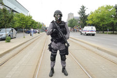 Police protection the TTC. Royalty Free Stock Images