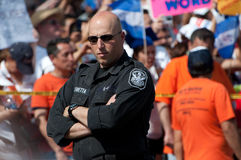 Police at Protest Royalty Free Stock Photo