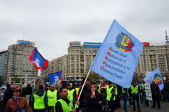 Police protests in Bucharest, Romania Royalty Free Stock Images