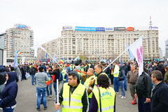 Police protests in Bucharest, Romania Stock Images