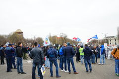 Police protests in Bucharest, Romania Stock Photography