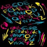 Alphabet Psychédélique police de vecteur psychédélique d'alphabet illustration de vecteur