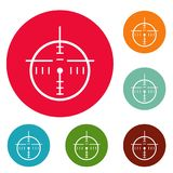 Police radar icons circle set vector Stock Images