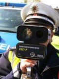 Police, Radar,Speed Check Stock Image