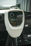 Police Radio Mic in Car stock image