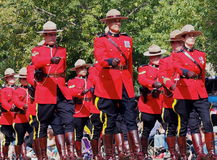 Police-RCMP montée par Canadien royal Photos stock