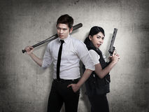 The police ready to fight crime Stock Images