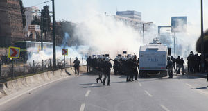 POLICE RELEASED IN KURDISH FEAST NEWROZ,ISTANBUL. Stock Photo