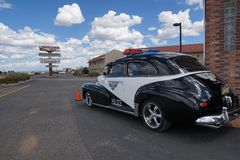 Police Retro car photo taken on the Road to Grand Canyon Royalty Free Stock Photo
