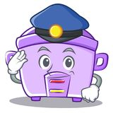 Police rice cooker character cartoon Royalty Free Stock Photos