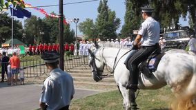 Police riders horse stock video footage