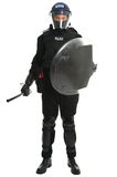 Police riot officer. Policeman in full riot gear Royalty Free Stock Photo