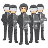 Police Riot Team Royalty Free Stock Photography