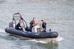Police on the river Stock Image