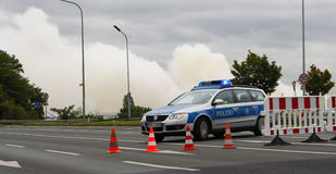 Police Road Block Royalty Free Stock Images