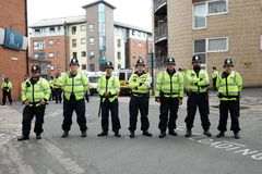 Police Road Block Stock Images