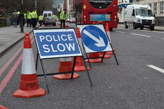 Police road check London Stock Image