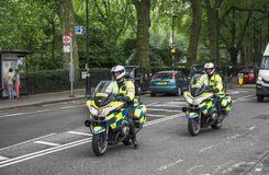 Police on the road Royalty Free Stock Photos
