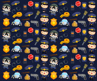 Police and robber background Stock Photo