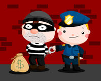 Police and Robber Stock Image