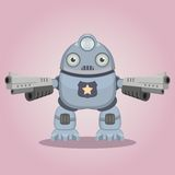 Police robot. With headlight. This is file of EPS8 format Royalty Free Stock Images