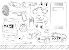 Police. Safety concept Royalty Free Stock Photo