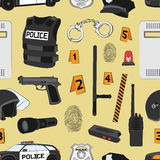 Police. Safety concept pattern Stock Images
