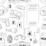 Police. Safety concept pattern Royalty Free Stock Photos