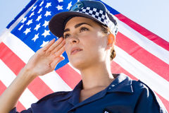 Police salute Royalty Free Stock Photo