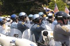 Police Salute hearse royalty free stock photos
