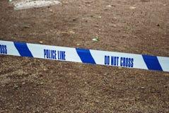 Police Scene Tape Stock Photography
