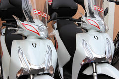 Police Scooters in Monaco Stock Photo
