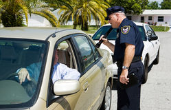 Free Police - Searching With Flashl Stock Photo - 5095350
