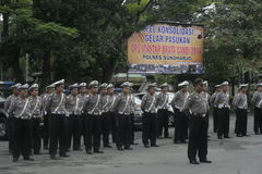 POLICE SECURITY ALERT ELECTION IN SUKOHARJO Stock Photography