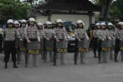 POLICE SECURITY ALERT ELECTION IN SUKOHARJO Royalty Free Stock Photo
