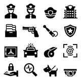Police & Security guard icon Stock Images