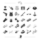 Police, service, crimand other web icon in monochrome style.Transport, vehicle icons in set collection. Stock Photos