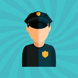 Police service design Stock Photography