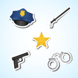 Police set Royalty Free Stock Photo