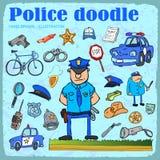 Police set. Police elements set. vector illustration Stock Photo